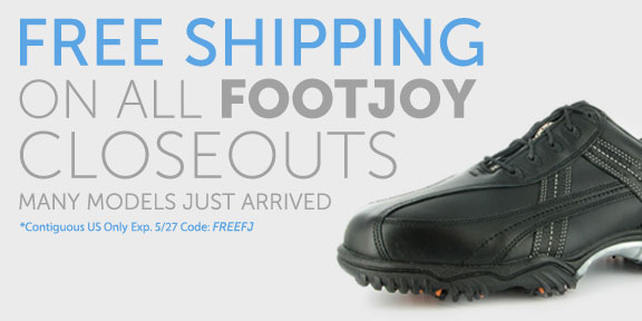 Free Shipping on All FootJoy Closeouts