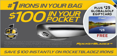 Save $100 Instantly on Select New TaylorMade RocketBladez Irons