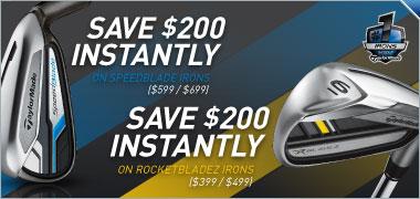 SpeedBlade & RocketBladez Irons Instant Savings -- Save up to $200