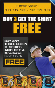 Free Peter Millar Shirt With Purchase of Any Three Dozen e Series Golf Balls
