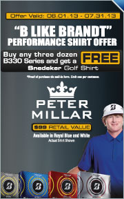 Free Peter Millar Shirt With Purchase of Any Three Dozen B330 Golf Balls