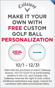 Free Personalization on Select Callaway Golf Balls