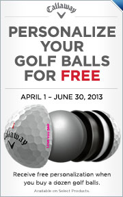 Free Personalization On Select Callaway Golf Ball Dozens