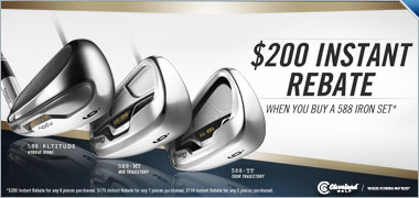 $200 Instant Rebate on any New Cleveland 588 Iron Set