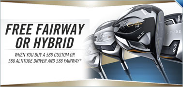 Buy a Cleveland 588 Driver and Fairway to Receive a Free Cleveland 588 Fairway or Hybrid