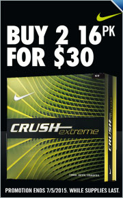 Buy 2 Crush X 16-Pack Golf Balls for $30