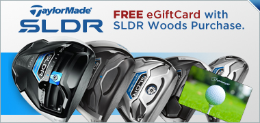 Up to a $50 Gift Card on New TaylorMade SLDR Woods