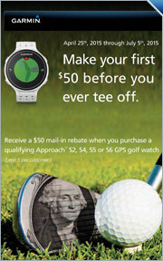 $50 Mail In Rebate on Select Garmin Watches