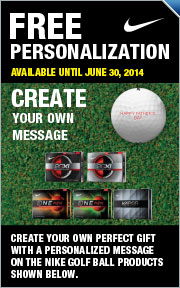 Free Personalization on Select Nike Golf Balls