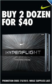 Buy 2 Nike Hyperflight Golf Balls for $40