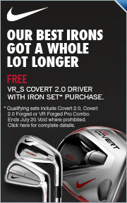 Free VRS Covert 2.0 Driver w/Purchase of a Select Nike Iron Set