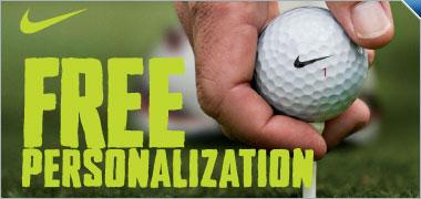 Free Personalization on all Nike Golf Balls