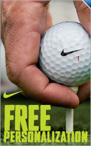 Free Personalization on all Nike Golf Balls
