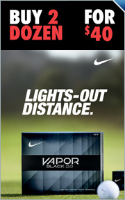 Buy 2 Nike Vapor Black 2.0 Golf Balls for $40