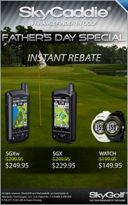 $50 Instant Rebate on Select SkyCaddie GPS Rangefinders