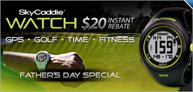 $20 Instant Rebate on Select SkyCaddie GPS Rangefinders