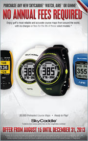 No Annual Fees Required on Purchase of Any New SkyCaddie Watch, Aire, or Gimmie
