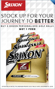Buy 3 Dozen Personalized Srixon Golf Balls & Get a 4th Dozen Free
