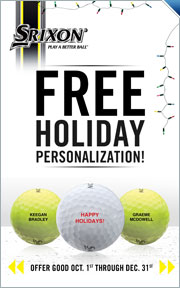 Free Personalization on Srixon Golf Balls