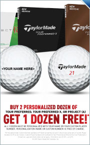 Buy 2 Personalized Dozen of Tour Perferred, Tour Preferred X, Or Project (A) Get 1 Dozen Free