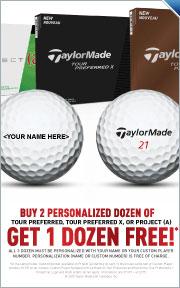 Buy 2 Personalized Dozen of Tour Perferred, Tour Preferred X, Or Project (A) Get 1 Dozen Free