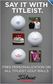 Spring Free Personalization on all Titleist Golf Balls