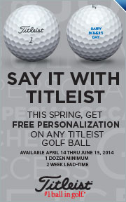 Free Personalization on Titleist Golf Balls