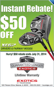 $50 Instant Rebate on Tour Edge Exotics XCG7 Drivers & Fairways