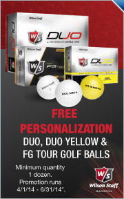 Free Personalization on Select Wilson Golf Ball Dozens
