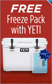 Free Yeti Ice Blue Freeze Pack With Purchase Of Select Yeti Coolers